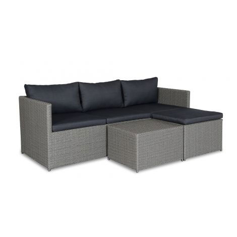 Tuinset Wicker Chaise Lounge